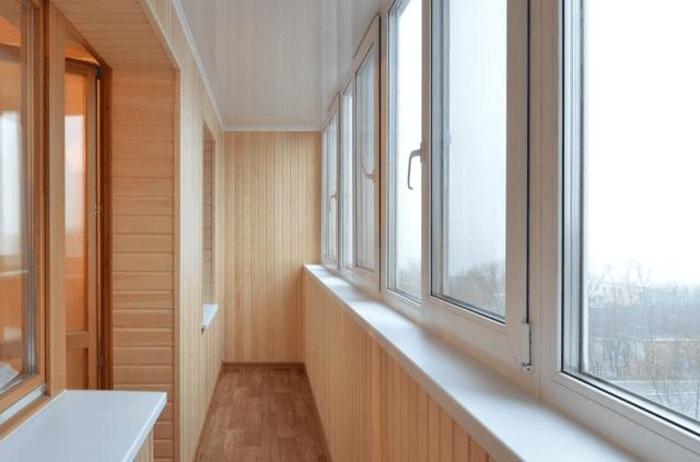 балкон под ключ с утеплением и отделкой в Ульяновске