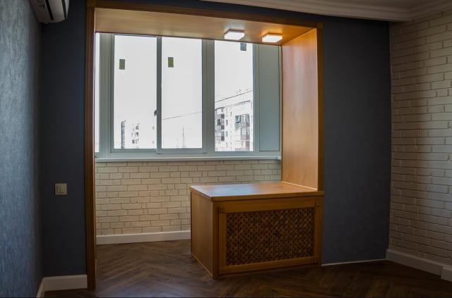 объединение балкона с комнатой в Ульяновске